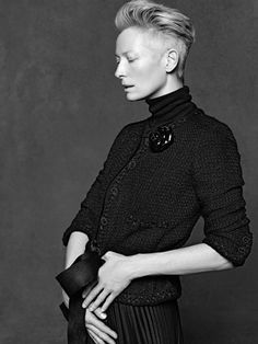 Chanel little black jacket by Tilda Swinton <3