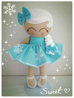 Tiny Dolls, Soft Dolls, Diy Elsa Doll, Sewing Projects For Kids, Sewing Crafts, Frozen Dolls, Homemade Dolls, Sewing Dolls, Felt Toys