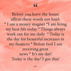 Affirmations For Anxiety, Morning Affirmations, Money Affirmations, Positive Affirmations, Quotes To Live By, Life Quotes, Positive Vibes Quotes, Women Empowerment Quotes, Abraham Hicks Quotes