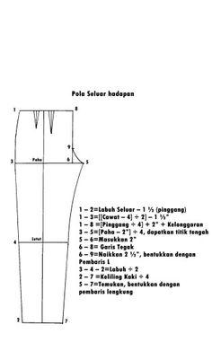Pola seluar 1