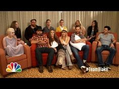 Team Blake Size Each Other Up - The Voice