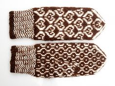 WOOL MITTENS Cozy Winter Hand knitted from natural wool by CozyLT