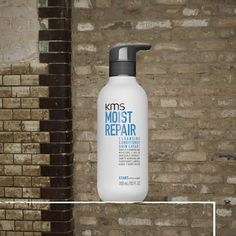 KMS MOISTREPAIR Cleansing Conditioner gently cleanses, conditions and moisturizes stressed hair. No additional shampoo or conditioner needed! #kmshair #stylematters