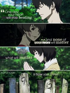 """One day, your heart will stop beating and none of your fears will matter, what will matter is how you lived.."" 