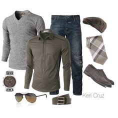 Men's Fashion -lose the hat and the tie, and you've got a great outfit