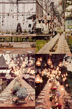 hanging lightbulbs, wedding, table decor, beautiful lighting, outdoors, party  Angie ( from Fred Lives Here) & Ben's wedding in Bali, as shown on http://www.thehoneycombers.com/singapore/2013/06/angie-pasley-wedding.php#