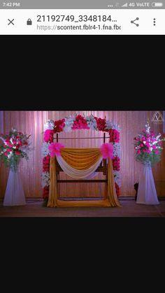 Naming Ceremony Decoration, Ceremony Backdrop, Boy Decor, Kids Decor, Ceremony Decorations, Flower Decorations, Baby Shower Parties, Baby Shower Themes, Cradle Decoration