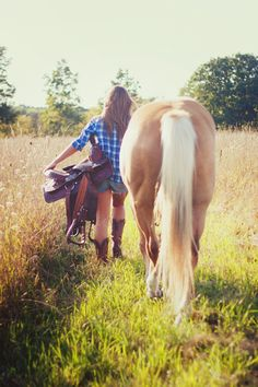 This looks just like me and Cash and I need one of us like this!!! Except riding in short shorts? Ouch