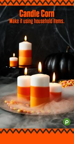 Give a simple white pillar candle a new look for Halloween. You probably have most of the supplies in your home, or can easily obtain them at your neighborhood Publix. Get ready to see simple household items like soup cans and crayons in a whole new way, and let's get crafting. Visit us and get easy-to-follow instructions for this and more fun Halloween crafts and recipes.