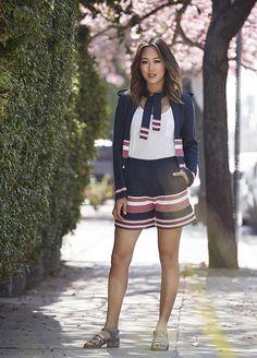 Shorts e jaqueta são ótimas opções para durante o fim de semana