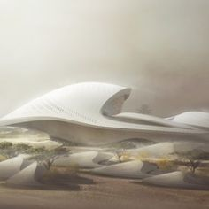 Zaha Hadid has designed a building shaped like a field of sand dunes to house the headquarters of Middle Eastern environmental company Bee'ah.