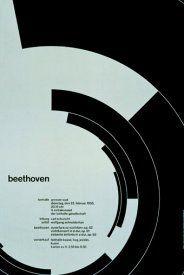 Beethoven poster design by Josef Müller–Brockmann, 1955 Bts Design Graphique, Art Graphique, Bauhaus, Joseph Muller, International Typographic Style, Designers Gráficos, Graphic Designers, Swiss Style, Swiss Design