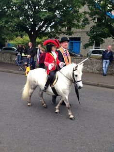Minature King William of orange (King Billy) on his miniature white steed! At Larne, Northern Ireland, July Visit Northern Ireland, Orange Order, 12th July, King William, Orange Fruit, Countries Of The World, Small Towns, We The People, Scenery