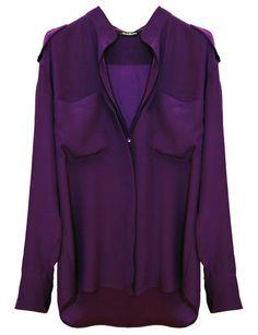 purple silk shirt.