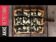 Open faced spinach pie with shortcrust pastry by Greek chef Akis Petretzikis. A quick, delicious spinach pie with feta cheese, cream cheese and aromatic herbs! Greek Desserts, Greek Recipes, Vasilopita Recipe, Greek Pastries, Spinach Pie, Savory Tart, Shortcrust Pastry, Aromatic Herbs, Chef Recipes