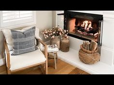 Amazing neutral fall decor create a beautiful space simply - YouTube Home Tv, Beautiful Space, Accent Chairs, Neutral, Fall Decorations, Princess, Create, Amazing, Interior
