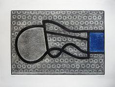 Vicente Rojo, 'Aforismo C', 2009. Colagrafía. México