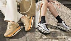 Sneaker glitterate o in vernice, Interactive fashion e glam vi aspettano nella nuova collezione di scarpe Hogan per l'autunno-inverno 2017-18.