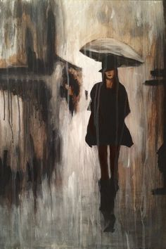"Rain Doesn't Lie! by Jill English | 16""w 24""h 