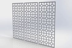 Fretwork Panels | Trade CNC Simple Geometric Designs, Timber Panelling, Decorative Wall Panels, Radiator Cover, Design Inspiration, Design Ideas, Window Shutters, Oriental Pattern, Ceiling Tiles