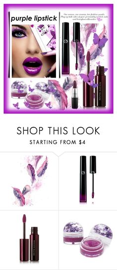 """""""Purple Lipstick"""" by conch-lady ❤ liked on Polyvore featuring beauty, Giorgio Armani, Kevyn Aucoin, Forever 21, MAC Cosmetics and purplelipstick"""