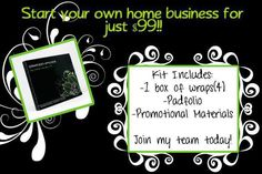 Start business! Sometimes I offer Promotions for only $49! Contact me if you are interested!