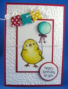 Party Banner Bird | Discover Ink – Ann Gerlach Independent Stampin' Up!® Demonstrator using SU Honeycomb Happiness