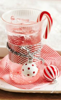 2013 Candy Cane Spritzers For Christmas Kids Drinks, Christmas Drink Ideas, Candy Cane Christmas Drink Ideas