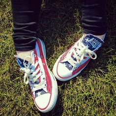 Celebrate your independence. #converse #chucktaylor #America
