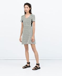 ZARA - WOMAN - COMBINED BACK JACQUARD DRESS