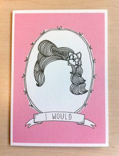 I Would card- Dame. £2.00, via Etsy.  Sarah Matthews