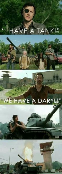 Lol soo true, where would Rick be without Daryl?! TWD Season 4 midseason finale