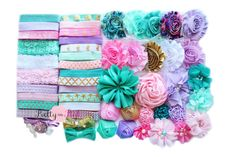 Vintage Mermaid Baby Shower Headband Kit by PrettyInPinkSupply