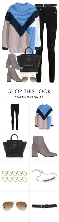 """""""Sin título #1094"""" by osnapitzvic ❤ liked on Polyvore featuring mode, Yves Saint Laurent, H&M, CÉLINE, Gianvito Rossi, ASOS, Monica Vinader, Ray-Ban, M&Co et women's clothing"""
