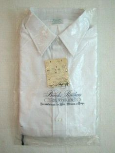 00ca35080 NOS Vintage BROOKS BROTHERS Mens Dress Shirt Size 15.5 Short Sleeve Super  Rare! #BrooksBrothers