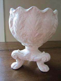 1963 Inarco White Pedestal Vase by BlondeTabbyCat on Etsy, $14.00