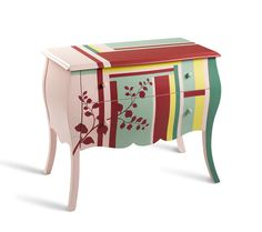 Commode contemporaine en bois 2 tiroirs imprimé Sonny - Meuble d'entrée - ENTREE