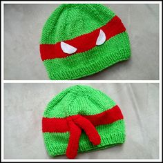 Ravelry: Ninja Turtle Beanies pattern by Sundae's Shop