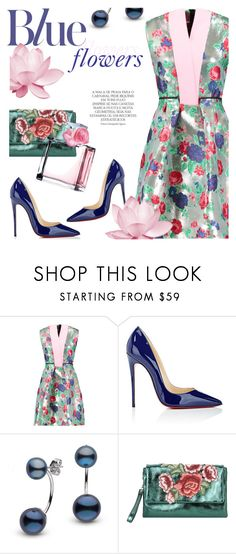 """""""Blue Flowers"""" by cilita-d ❤ liked on Polyvore featuring Christian Louboutin, Magdalena, George J. Love and Ralph Lauren"""