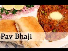 Pav Bhaji - Spicy Fast Food Recipe by Ruchi Bharani - Vegetarian [HD] - YouTube