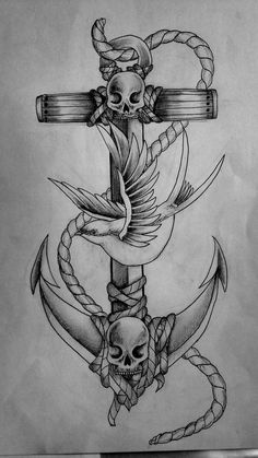 anchor tattoo ~~ I'm thinking something like this to honor my kids time in the Navy