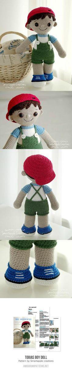 Tobias Boy Doll amigurumi pattern by Smartapple Creations