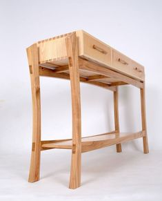 As promised a picture which shows the structure more clearly. Designer maker course student 's sideboard looks good from all angles. Timber Furniture, Studio Furniture, Woodworking Furniture, Fine Furniture, Unique Furniture, Furniture Projects, Furniture Plans, Custom Furniture, Furniture Making