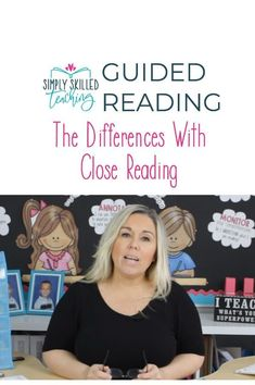 Do you know what the difference is between Guided Reading and Close Reading? Watch my latest Youtube video to find out 6 key differences. #guidedreading #closereading #ela