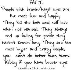 I'm that brown eyed  girl!!!