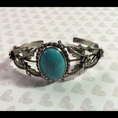 Jewelry - Sterling Silver and Turquoise fancy bracelet