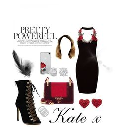 """""""Kate x"""" by maisymolbechmcphail ❤ liked on Polyvore featuring Sans Souci, Prada, Masquerade and Cole Haan"""