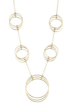 Multi-Circle Drop Necklace by Savvy Cie on @HauteLook
