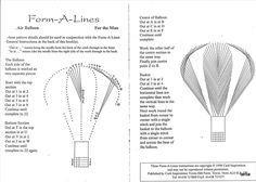 Air Balloon Stitching Card pattern