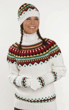 As a kid I had this kind of sweater but blue was one of the color. Fair Isle Knitting Patterns, Knitting Designs, Knit Patterns, Icelandic Sweaters, Warm Sweaters, Fair Isle Pullover, Norwegian Knitting, Knit Fashion, Christmas Sweaters